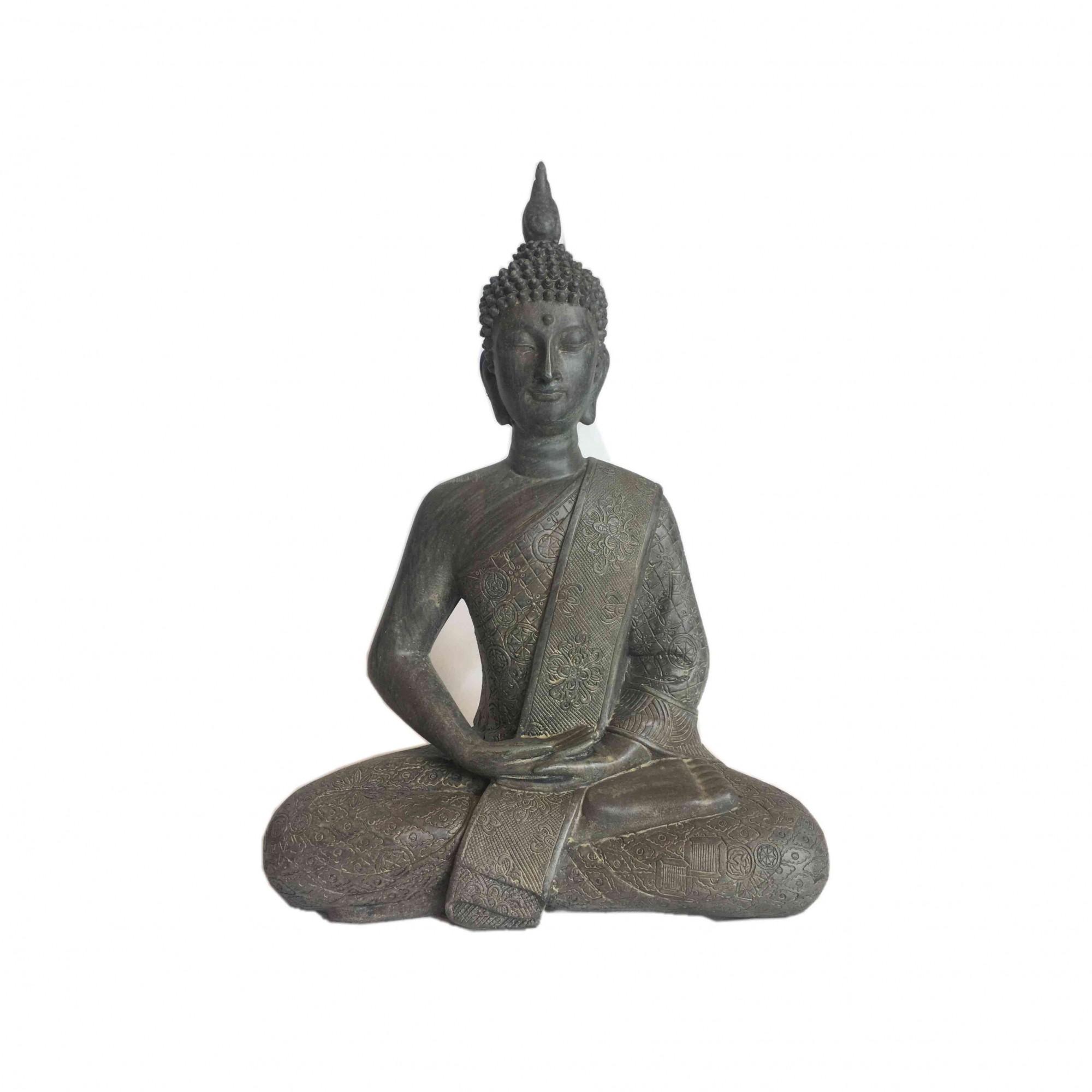 Buda de Resina Cinza