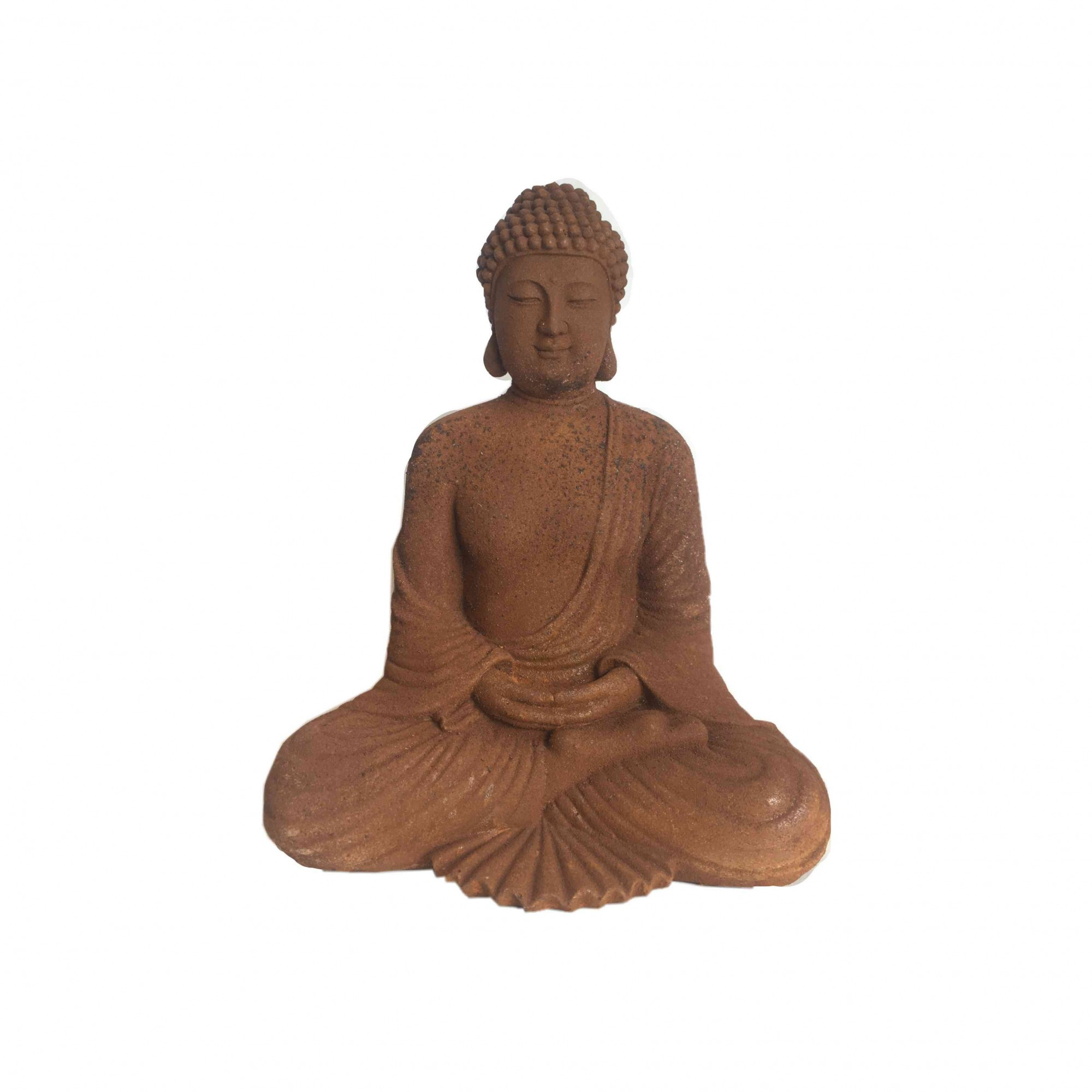 Buda para Jardim de Resina Médio