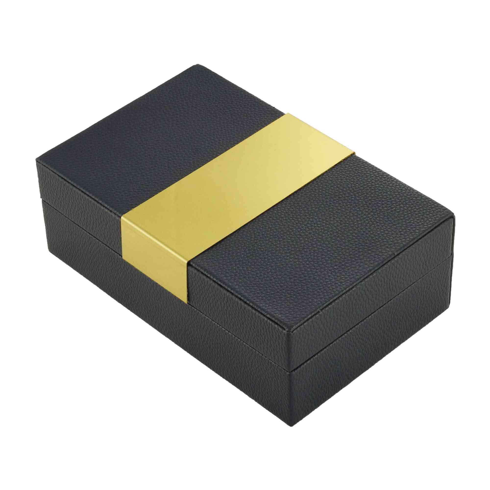 Caixa Decorativa de Corino Azul
