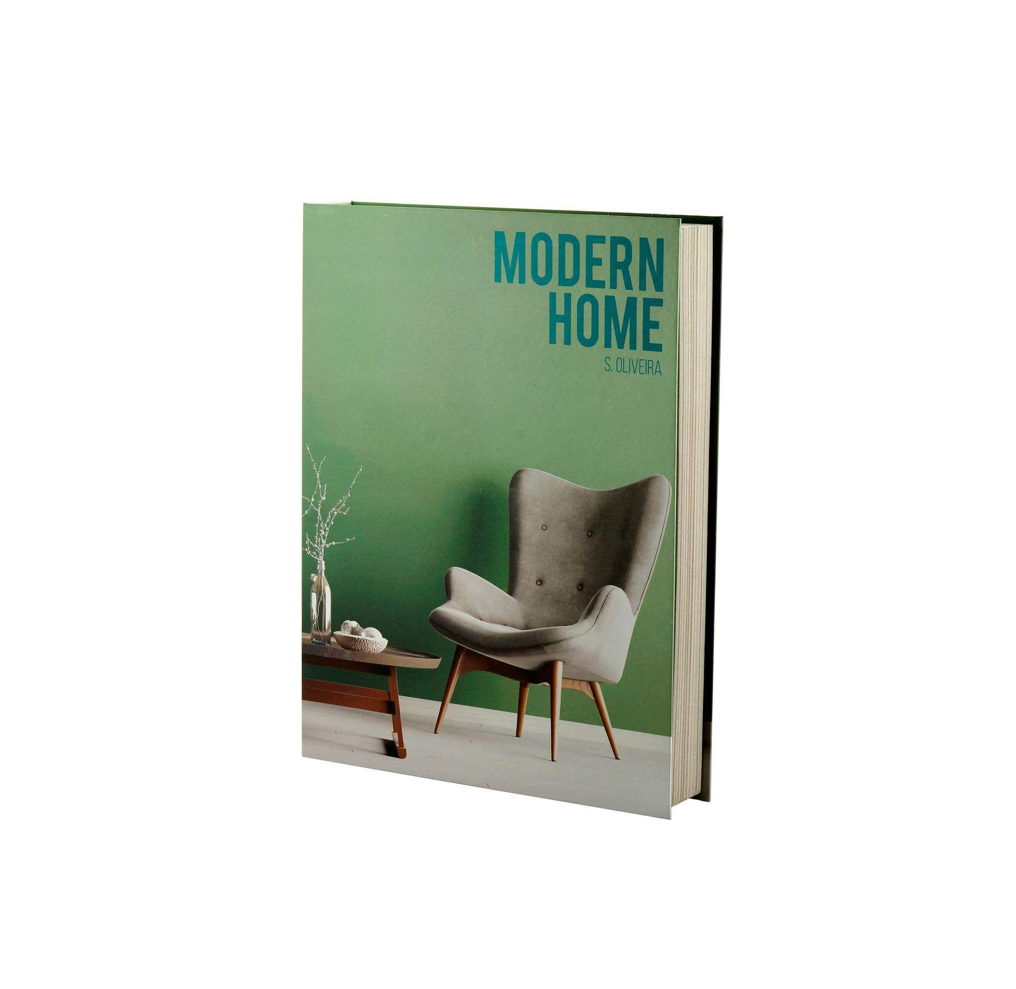 Caixa Livro Papel Rigido Modern Home 36x27x5cm