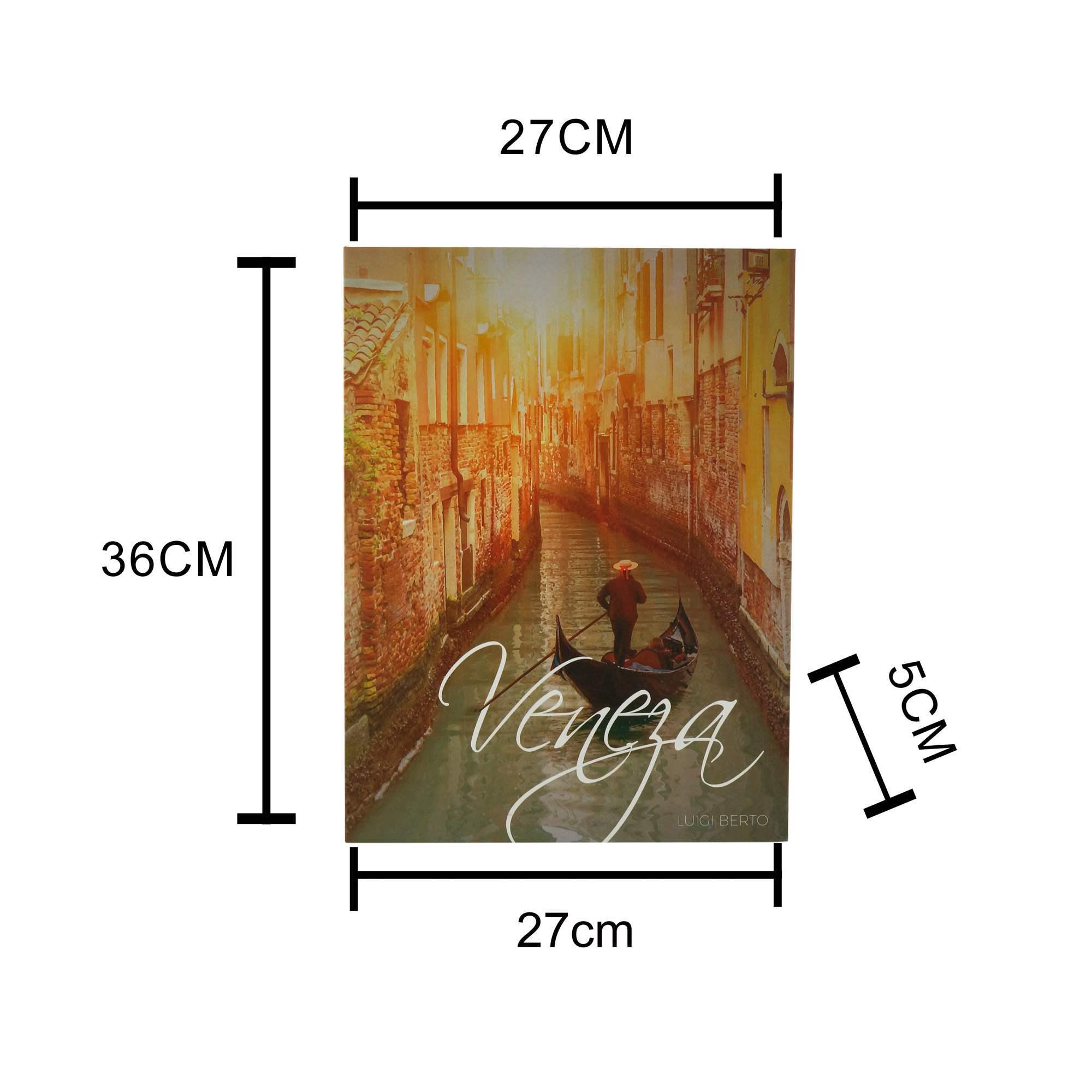 Caixa Livro Papel Rígido Veneza 36x27x5cm