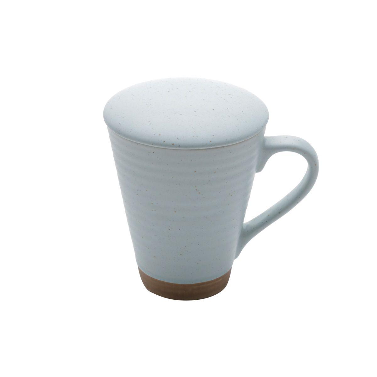Caneca de Cerâmica com Infusor de Chá