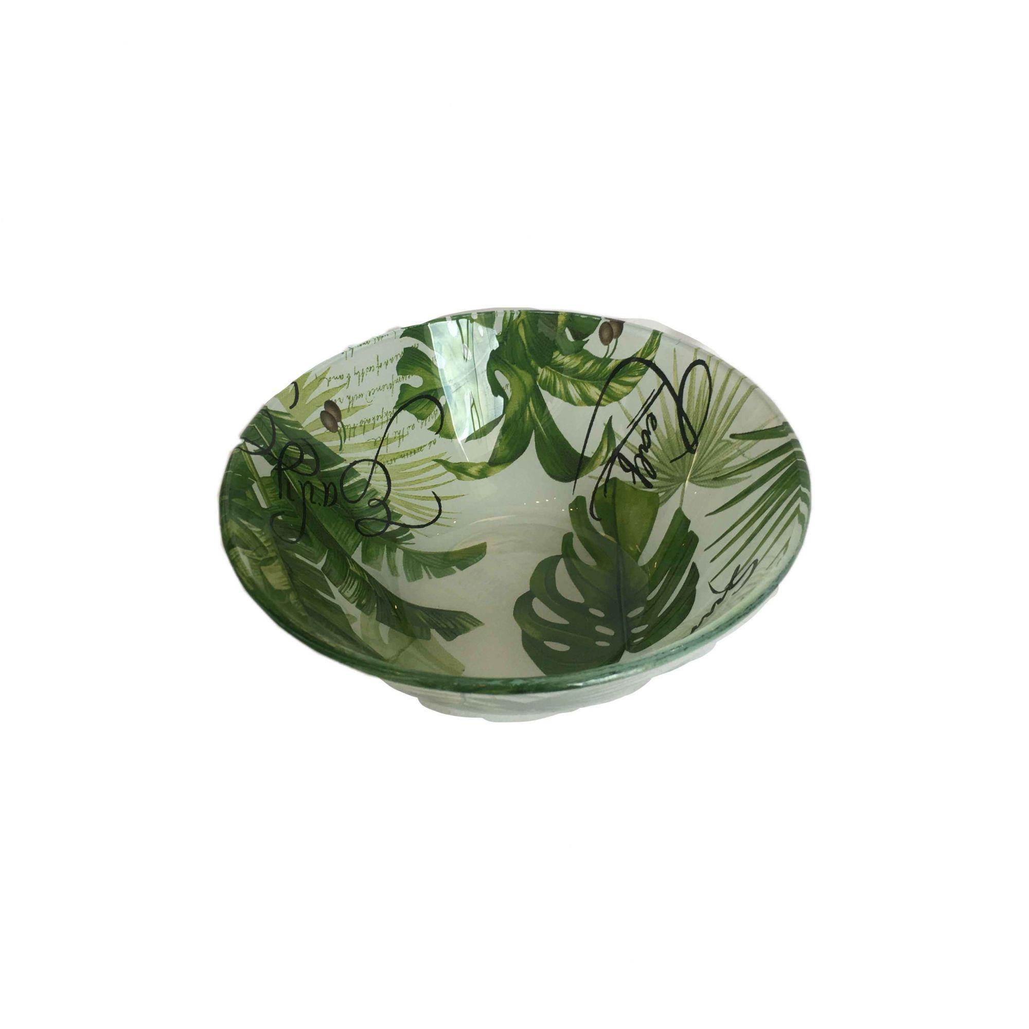 Conjunto Bowls De Vidro Leaves