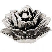 Flor Prata Em Cerâmica