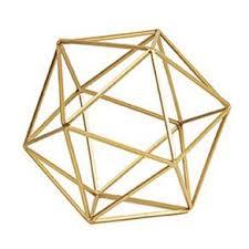 Forma Geométrica Dourada em Metal P