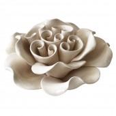 Peça Decorativa Flor Branca  13,2CM X 13,2CM