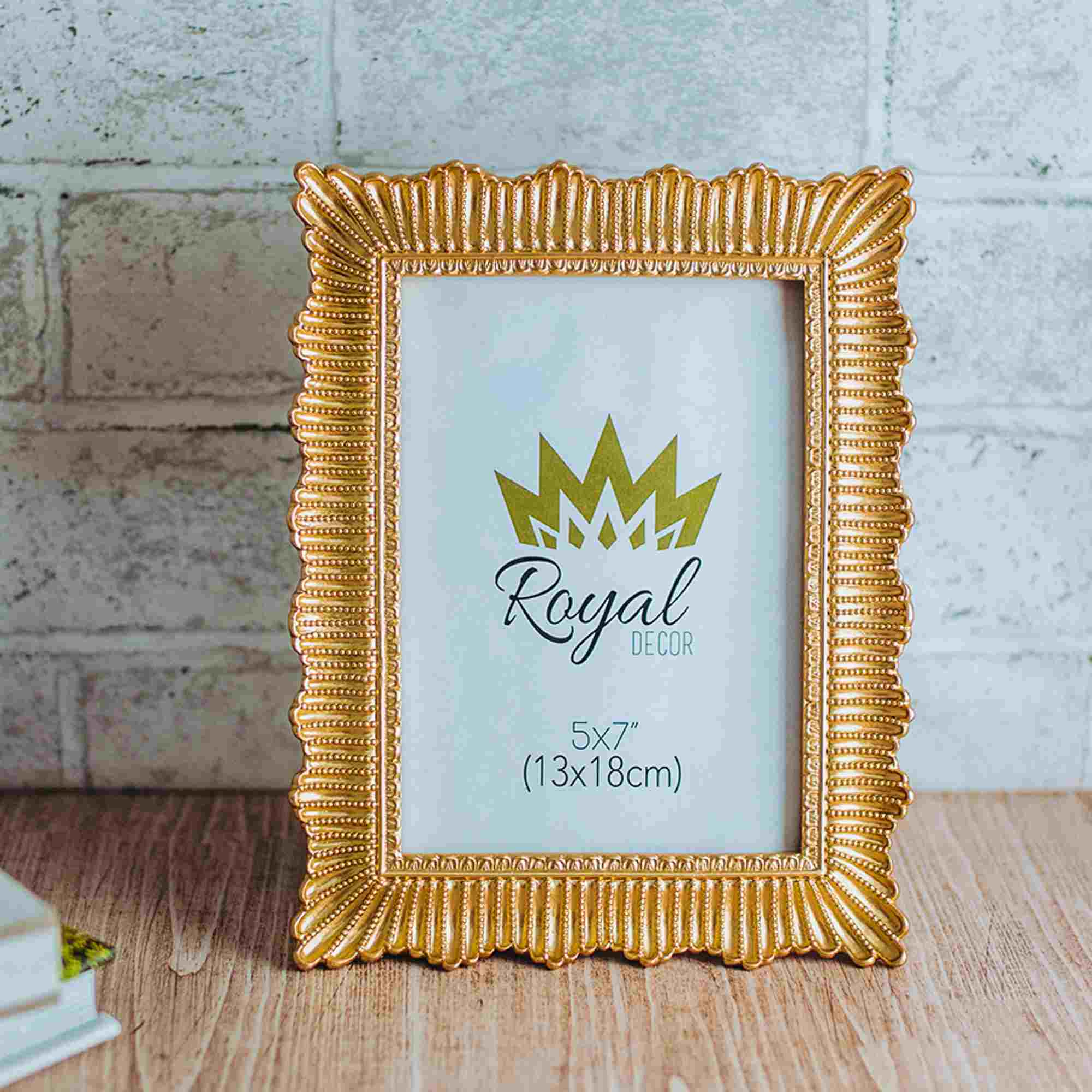 Porta Retrato Resina Dourado 13x18cm