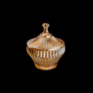 Potiche Decorativo de Cristal Renassence Ambar 11,5x13,5cm