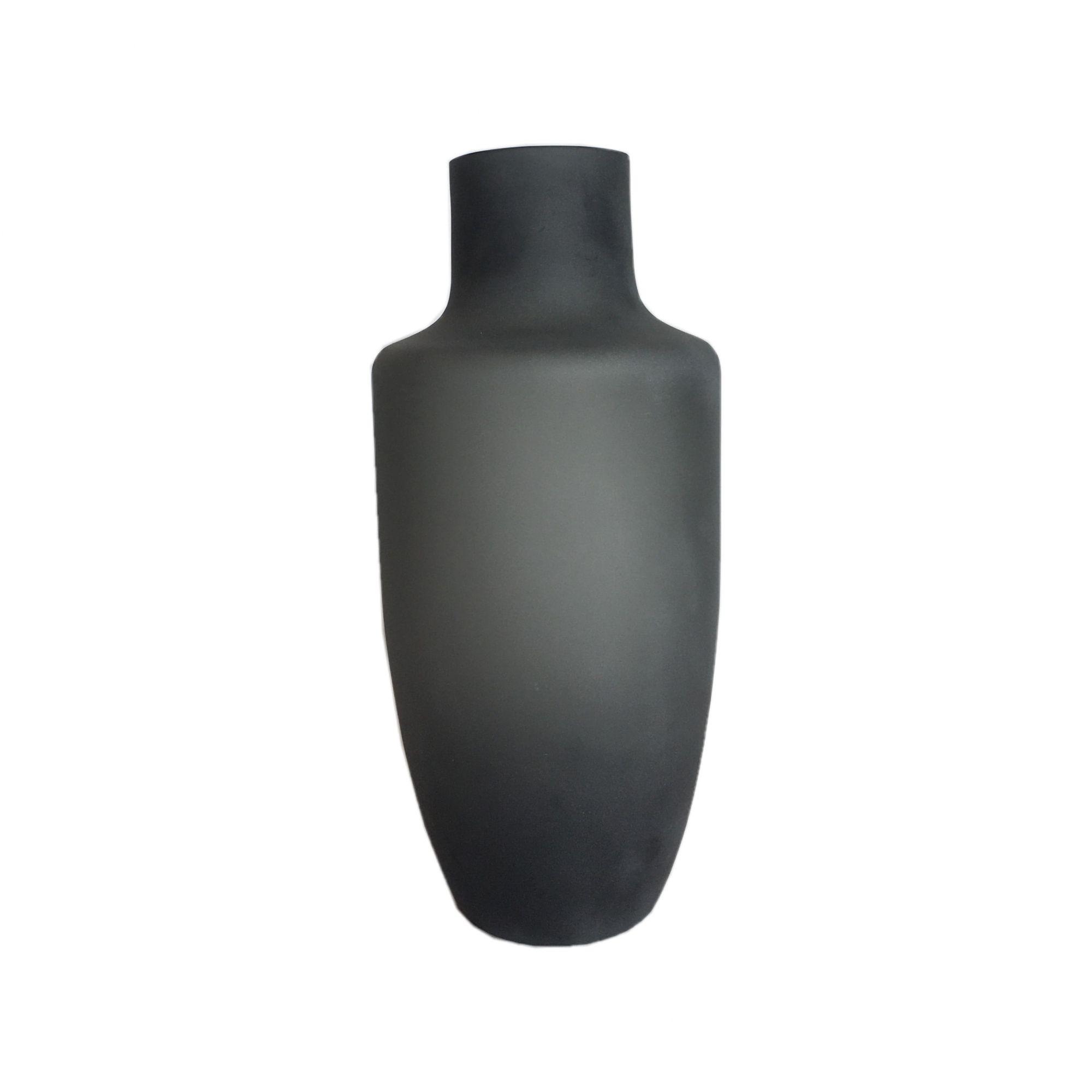Vaso Cinza em Vidro