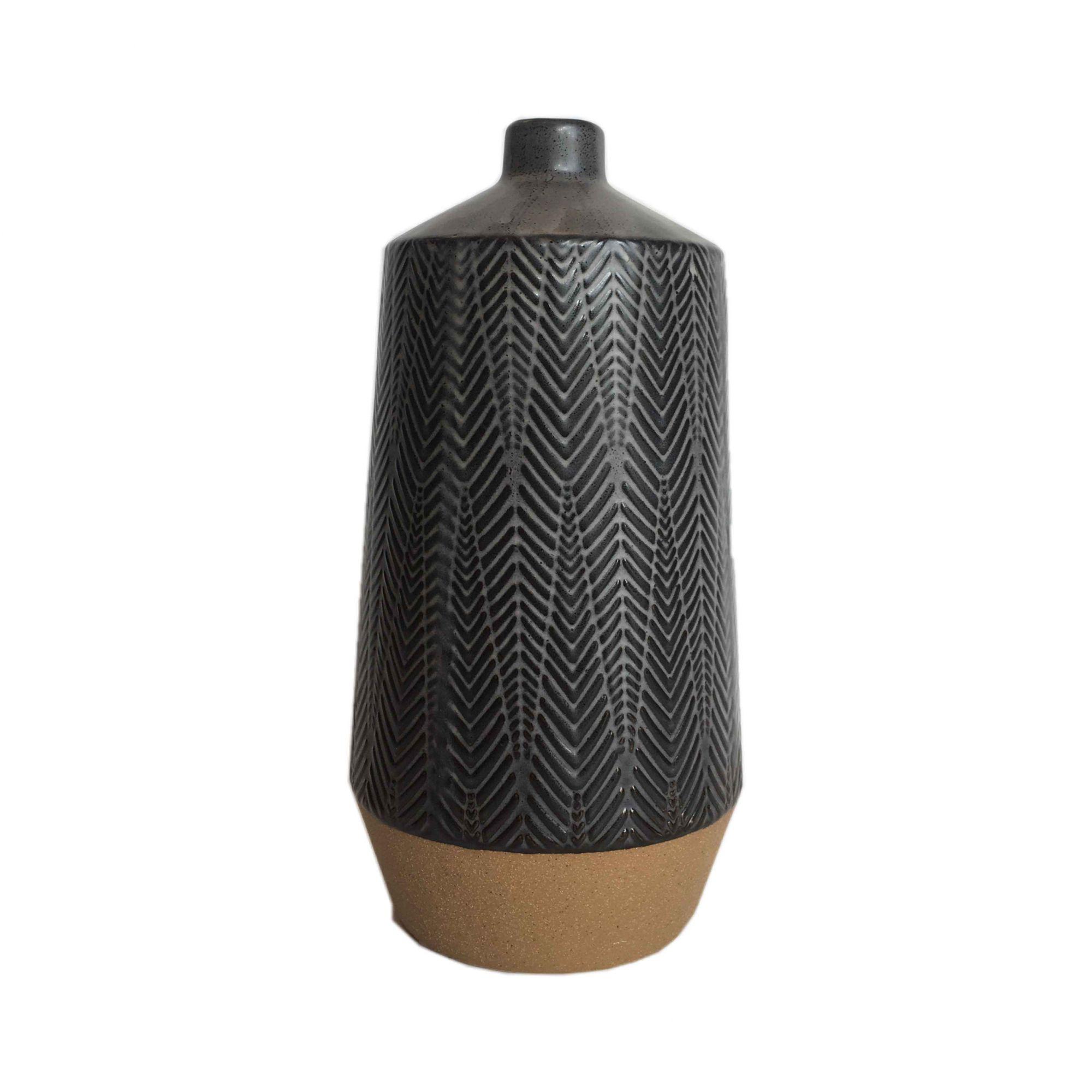 Vaso de Cerâmica Grafite