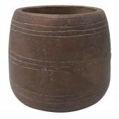 Vaso de Cimento Marrom 14CM X 14CM X 12CM