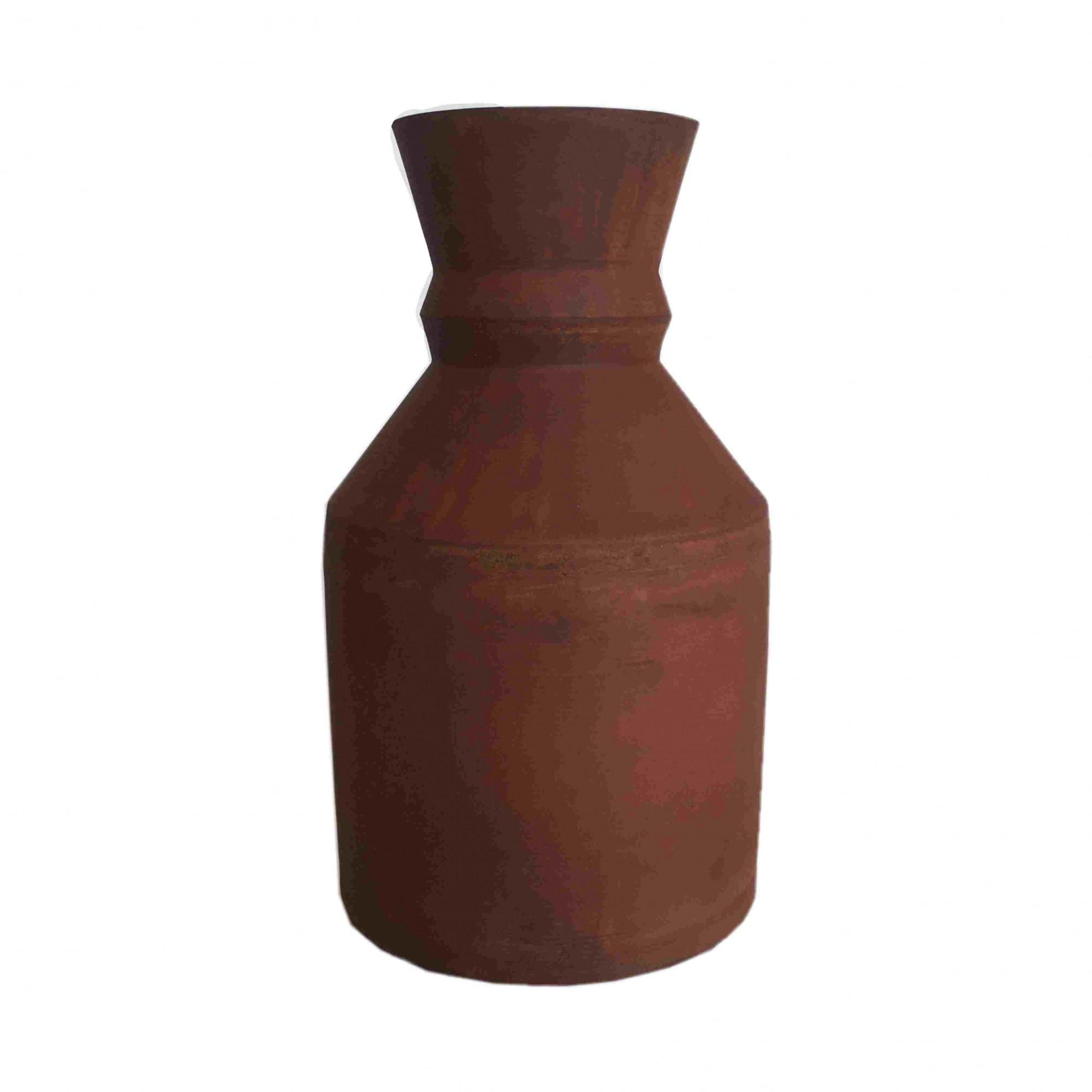 Vaso de Metal Ornato Ferrugem