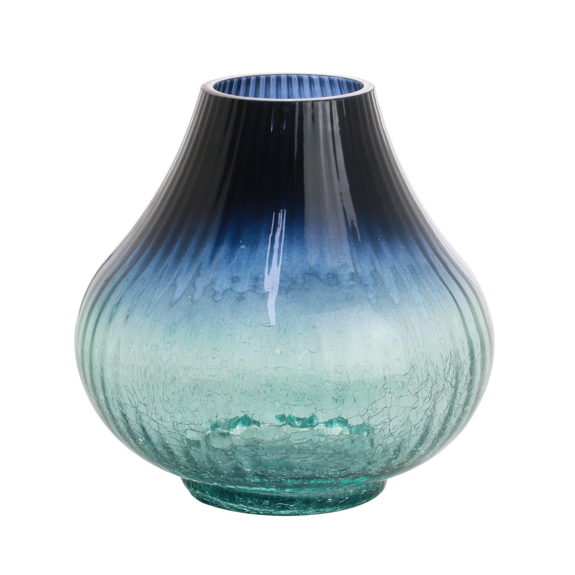 Vaso De Vidro Azul