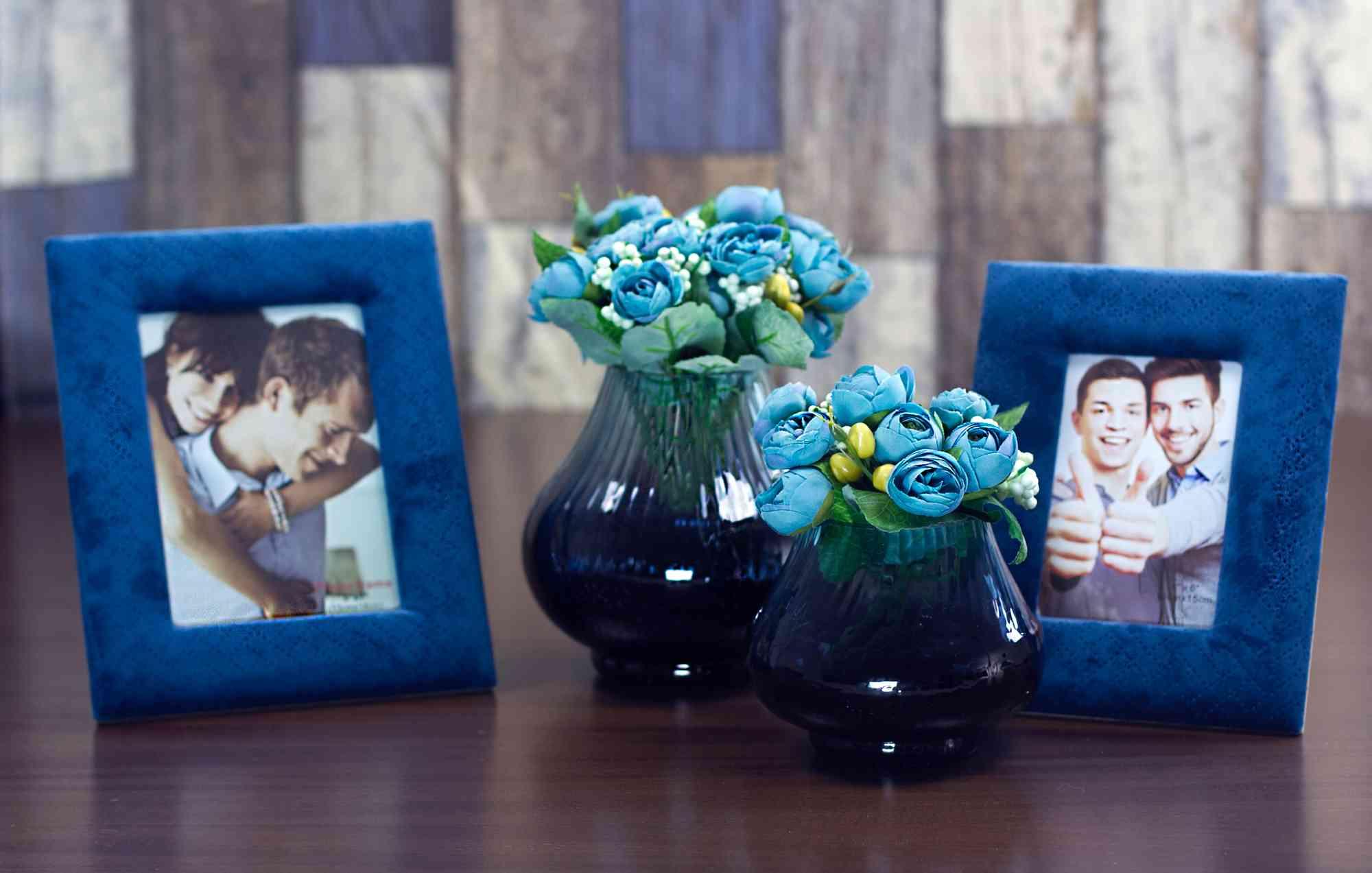 Vaso De Vidro Azul Pequeno