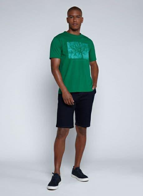 Bermuda Jeans Stret Bolso Faca Dudalina