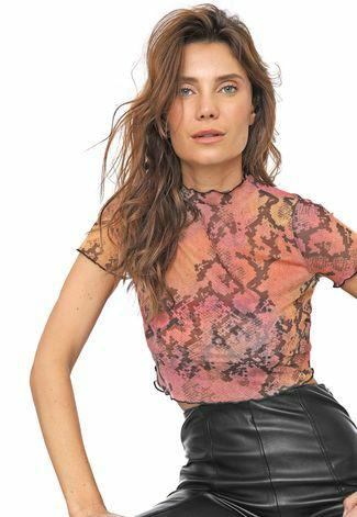 Blusa Cropped Tule Dimy