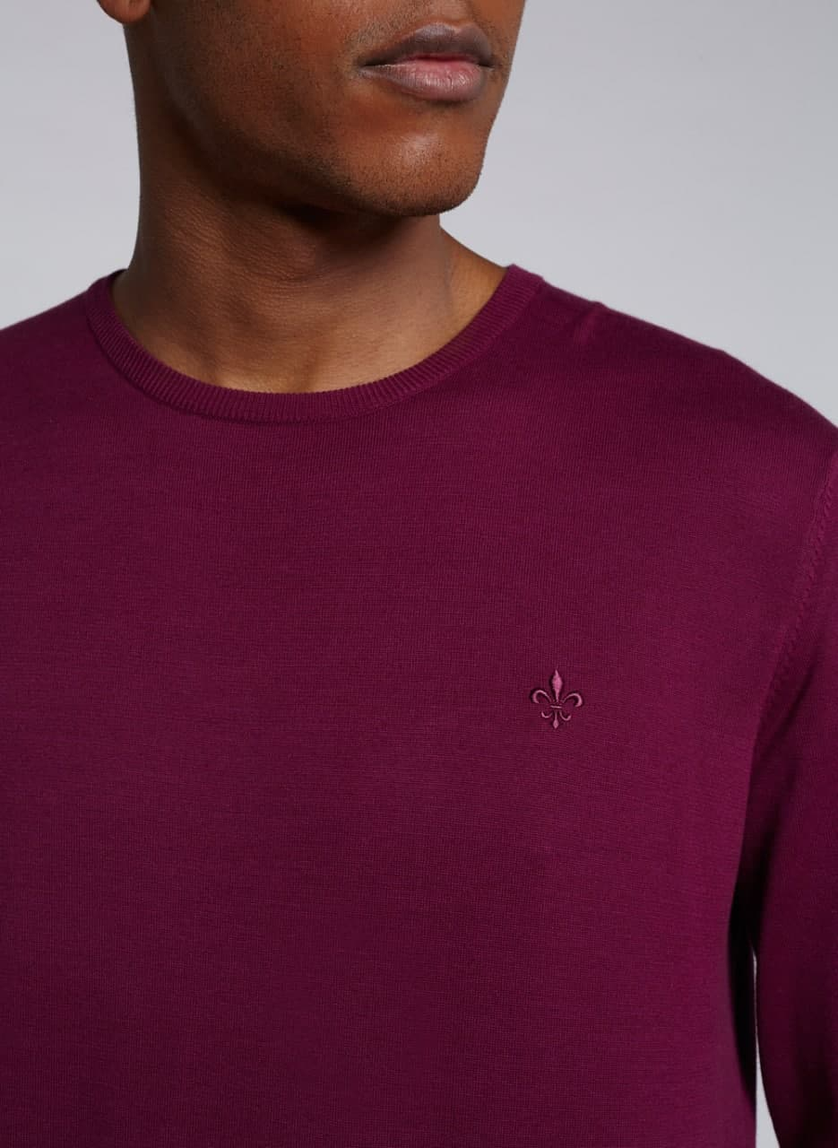 Camiseta Dudalina Tricot Manga Longa Gola Careca