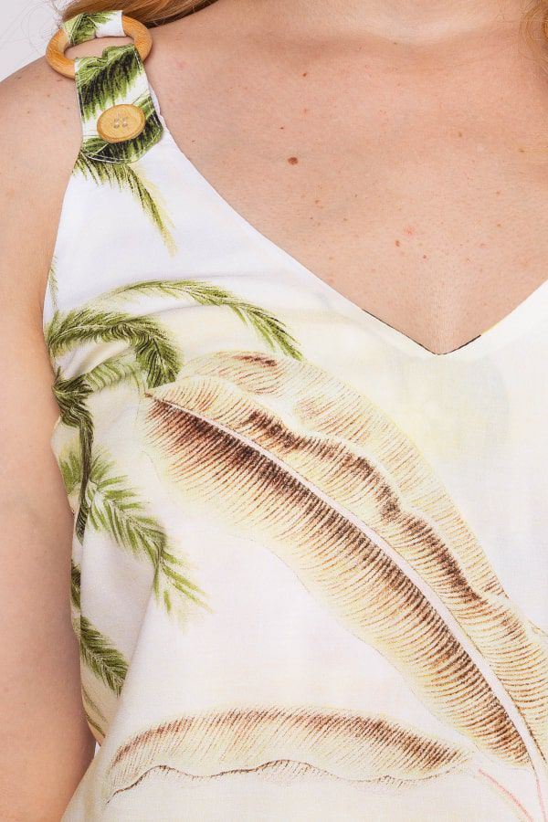 Blusa Estampa Tropical Rery