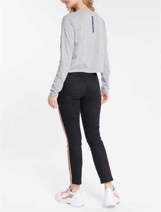 Blusa ML Logo Meia Reat Calvin Klein