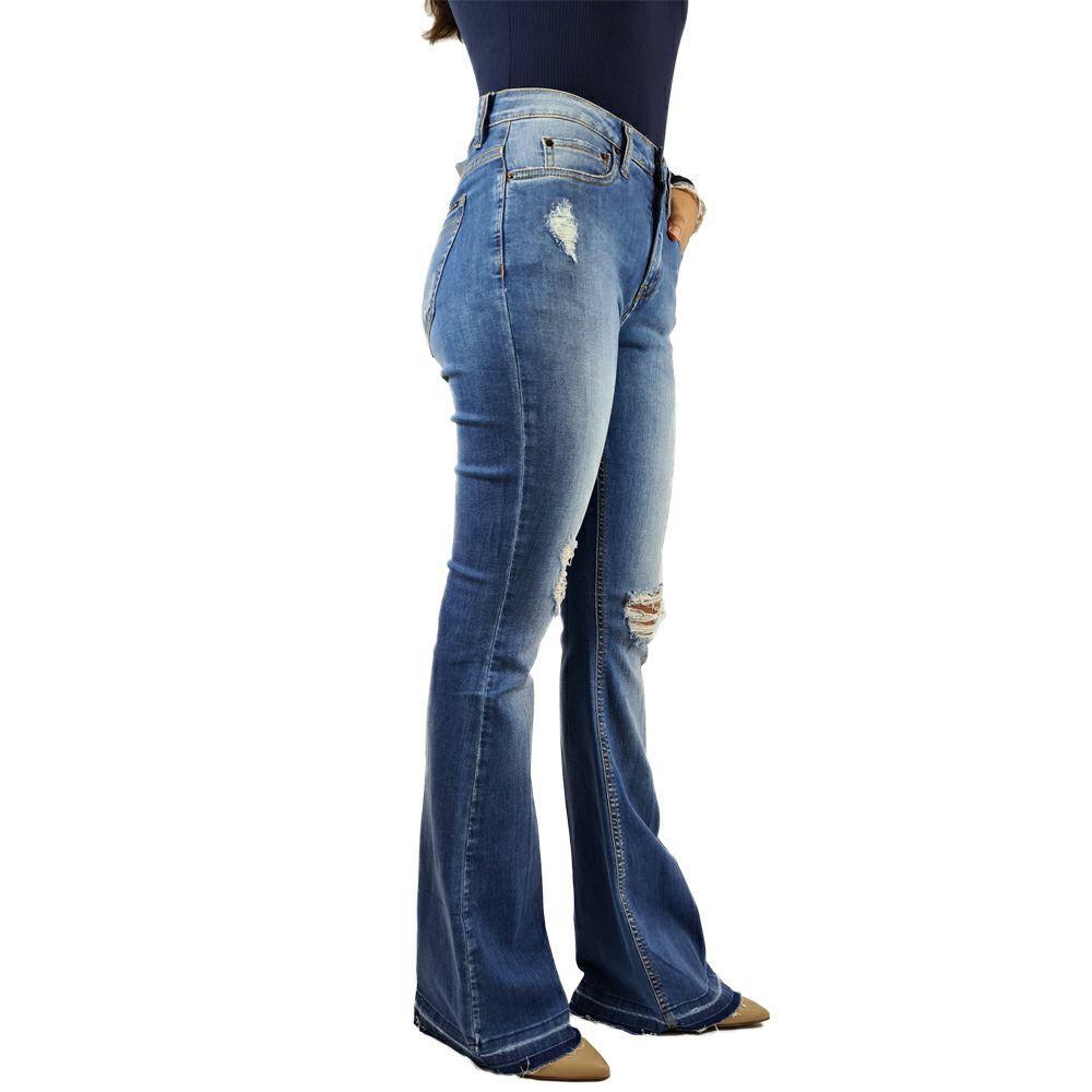 Calça Five Pockets Rise Flare Calvin Klein