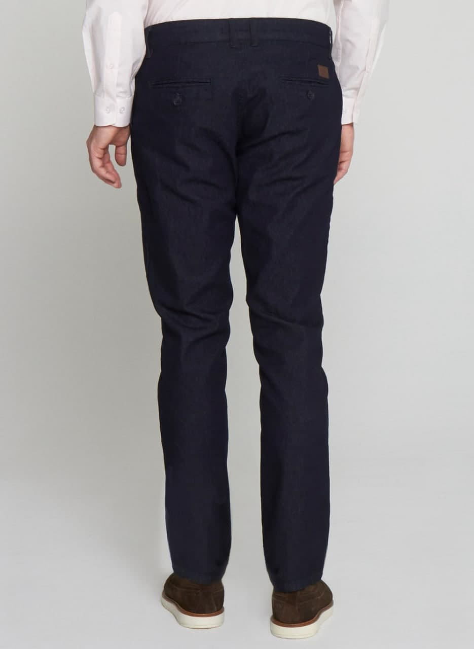 Calça Jeans Bolso Faca Bottons Longos Individual