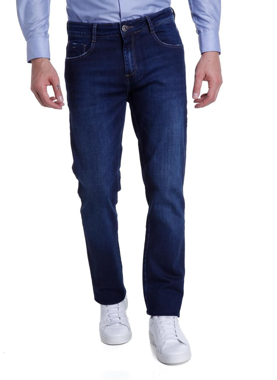 Calça Jeans Bottons Longos Concept Cross Dudalina