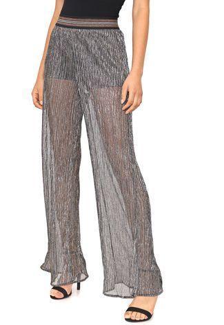 Calça Pantalona Plinssada Dimy