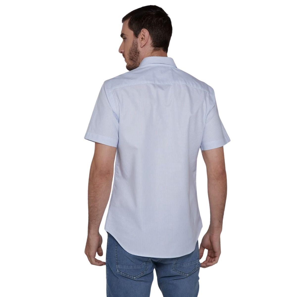 Camisa Dudalina Manga Curta Fio Tinto Listrada