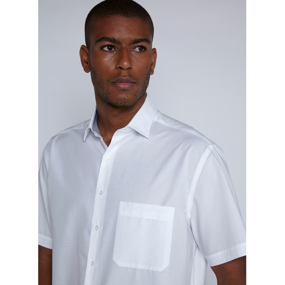 Camisa Dudalina Manga Curta Tricoline Comfort