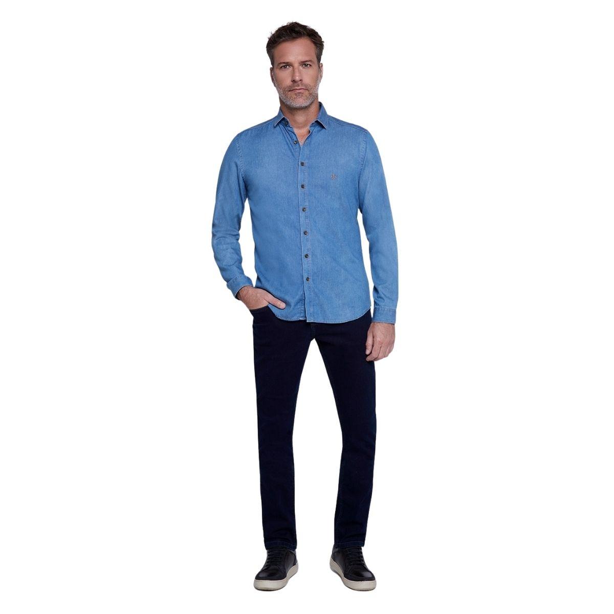 Camisa Dudalina Manga Longa Jeans Lisa Milano