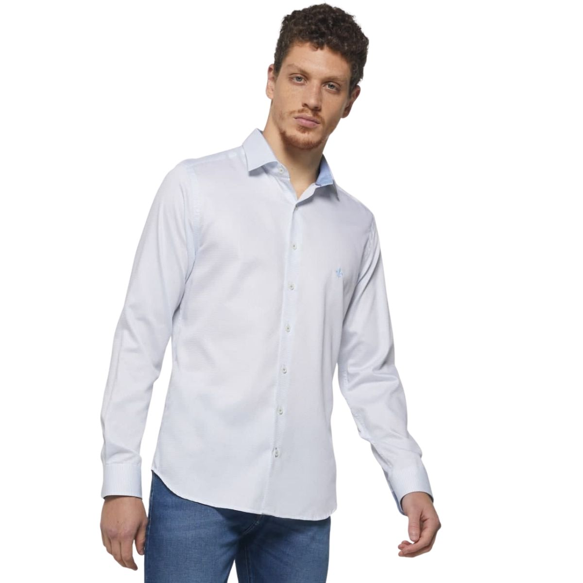 Camisa Dudalina Manga Longa Maquinetada Comfort Home e Office