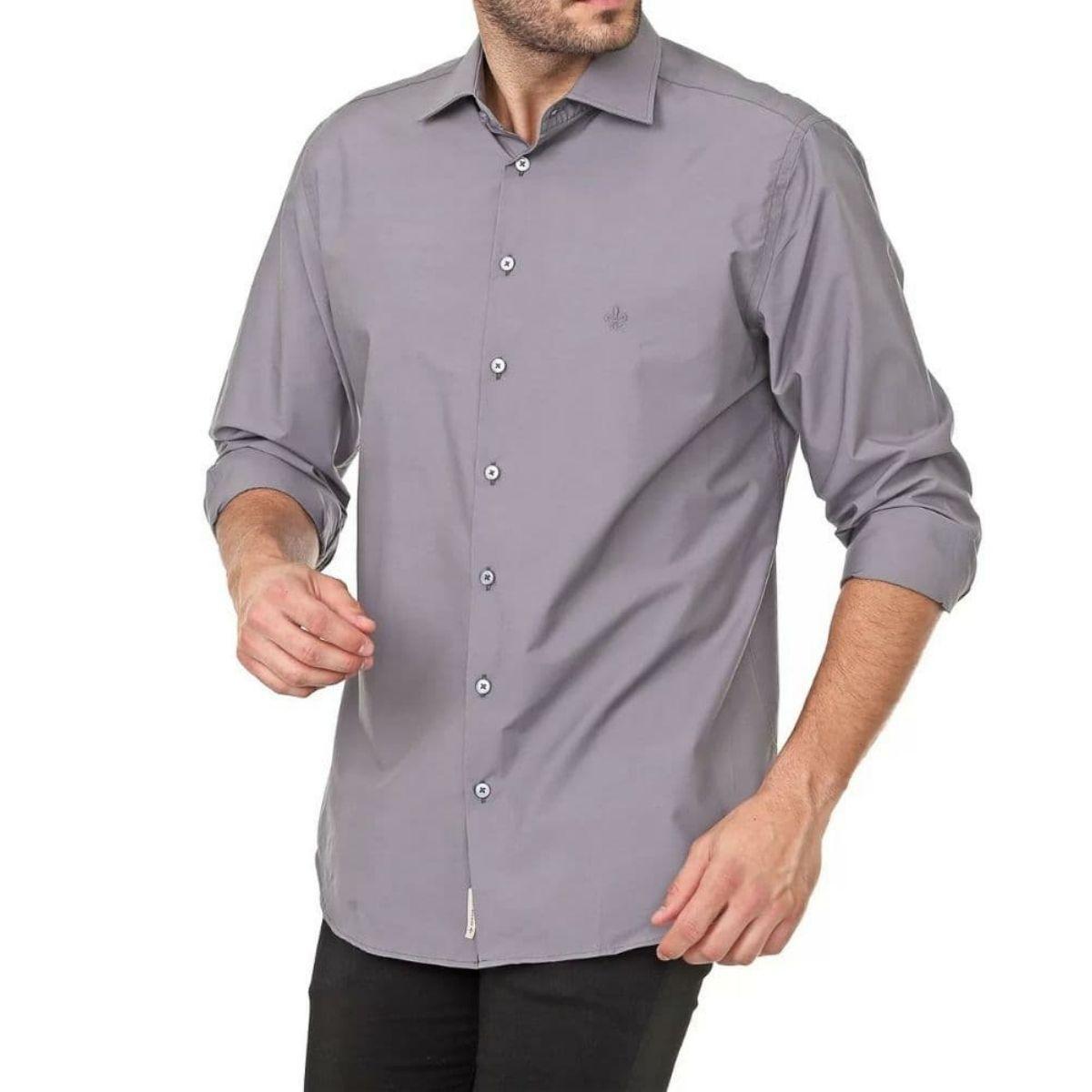 Camisa Dudalina Manga Longa Tricoline