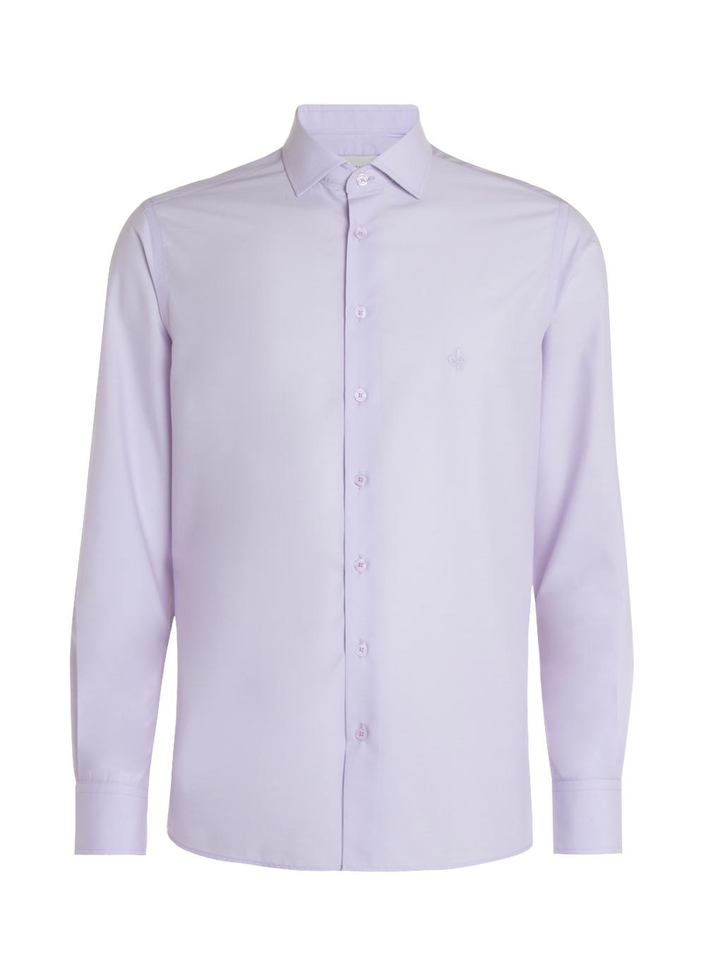 Camisa Dudalina Tricoline Mnaga Longa