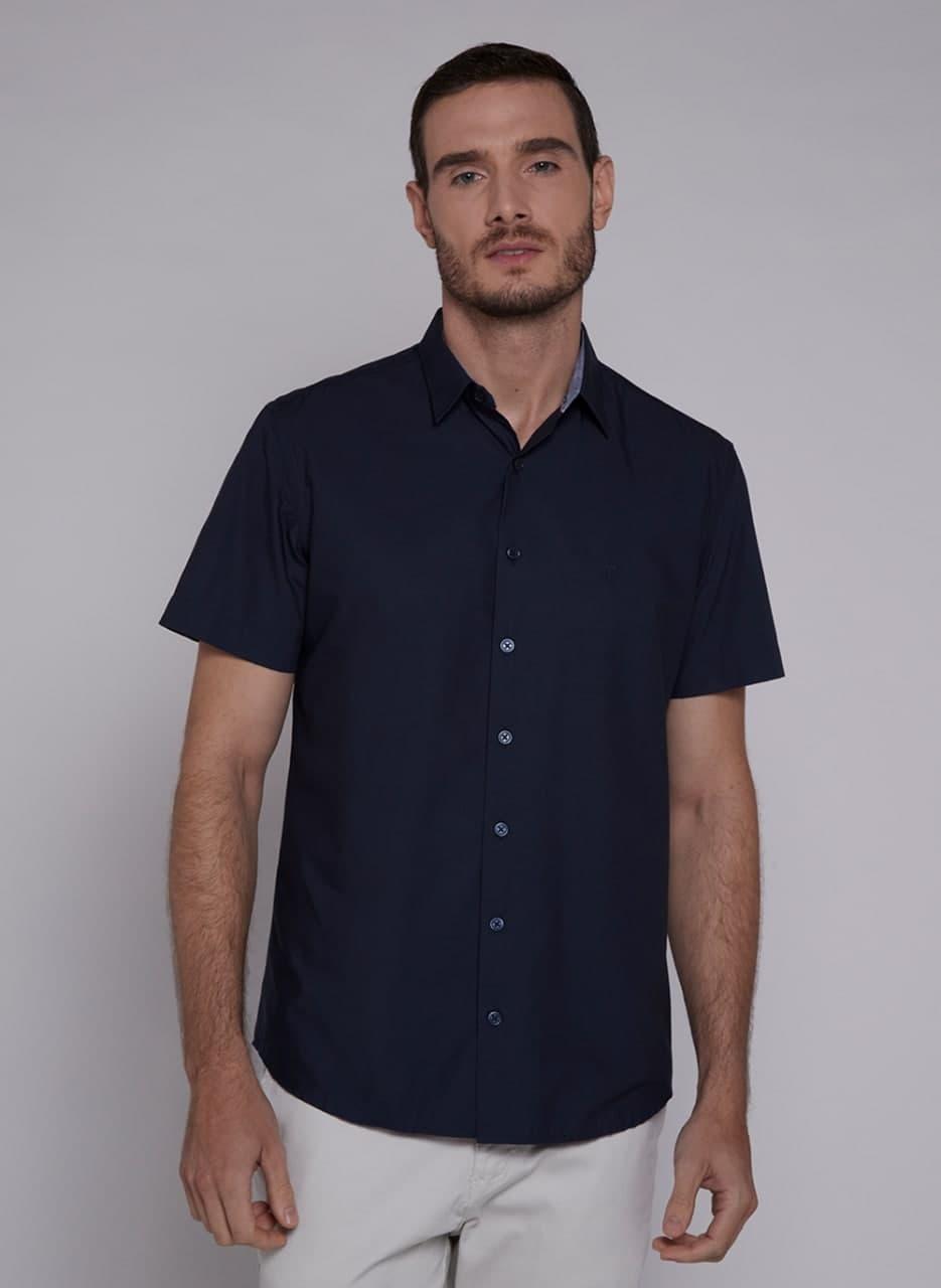 Camisa Individual Manga Curta Compose Tricoline Comfort Fit