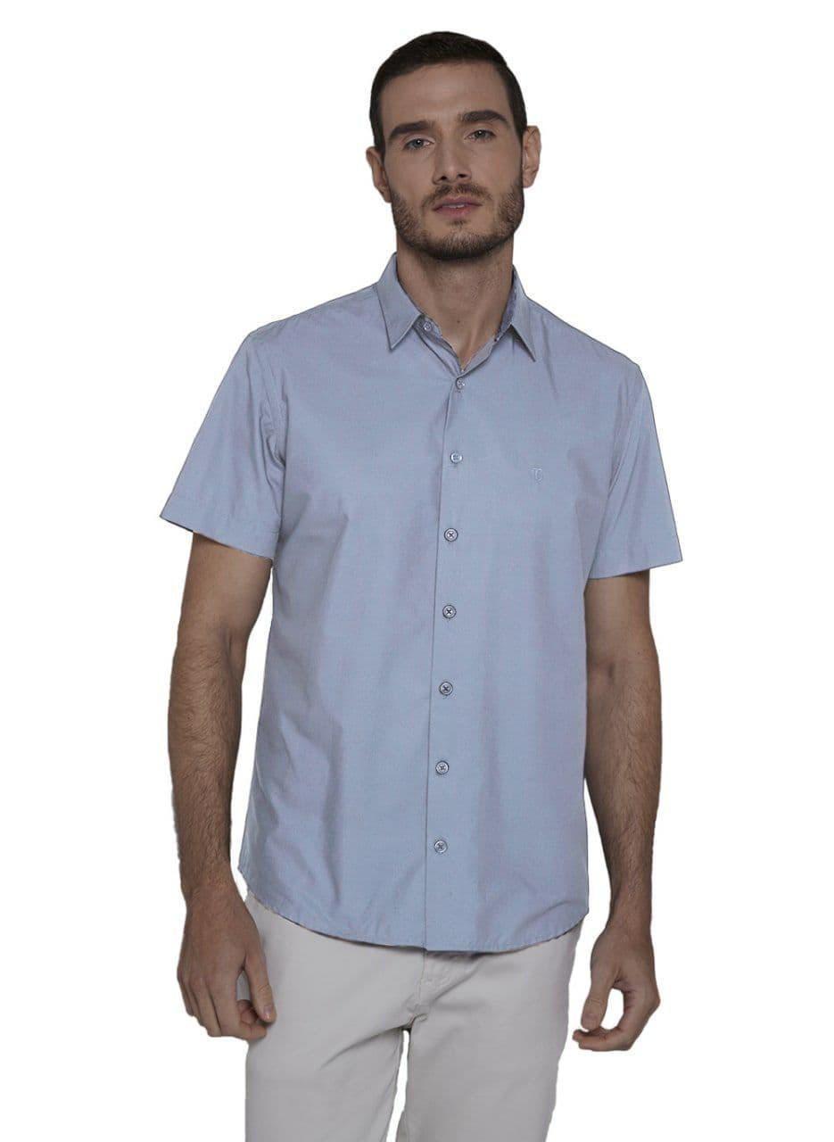 Camisa Individual Manga Curta Tricoline Compose Slim