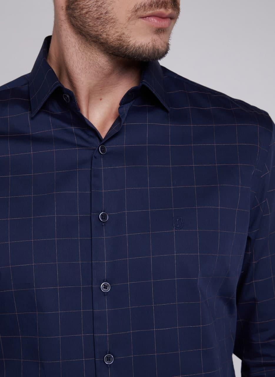 Camisa Individual Manga Longa Comfort Xadrez