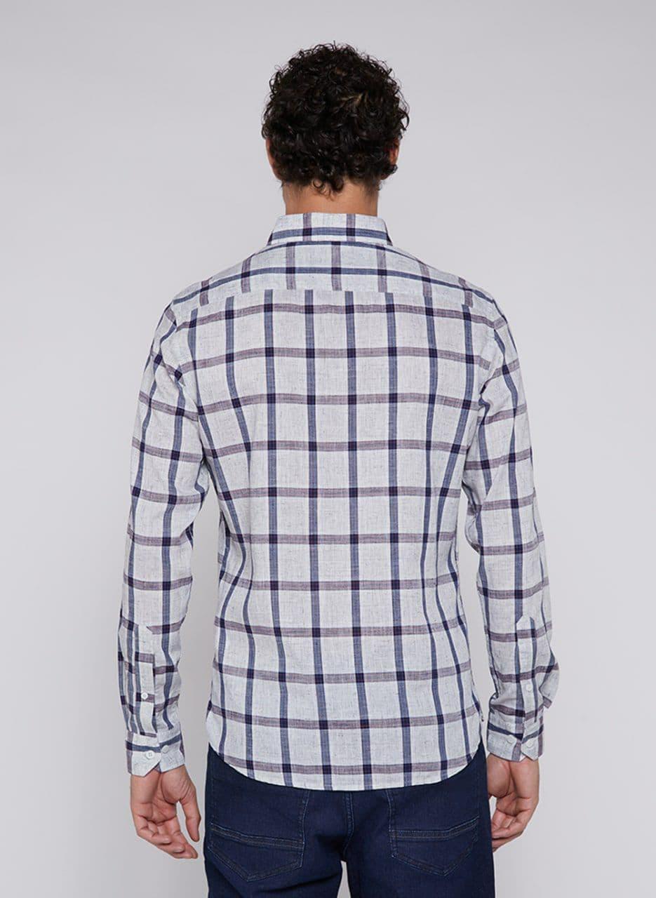 Camisa Individual Manga Longa Ft Comfort Xadrez
