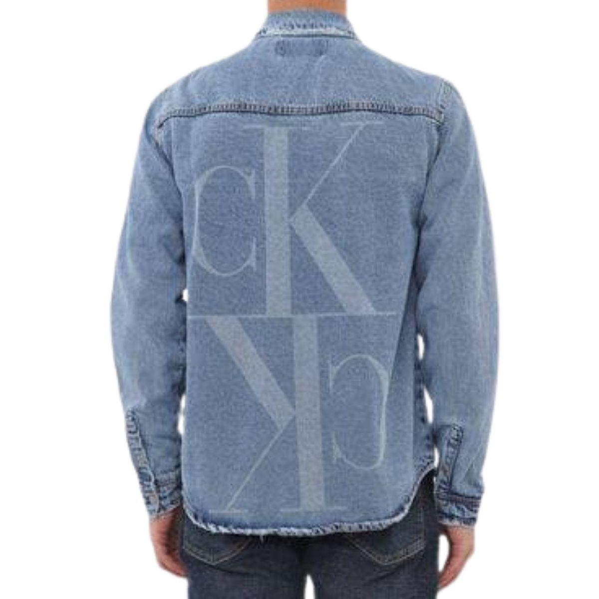 Camisa Jeans Calvin Klein Manga Longa Overshirt
