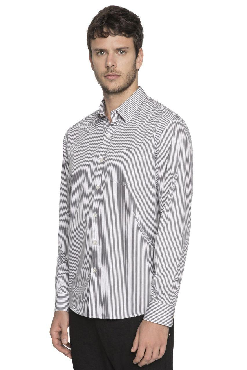 Camisa Listrada Bengal Striped Pocket ML Ellus