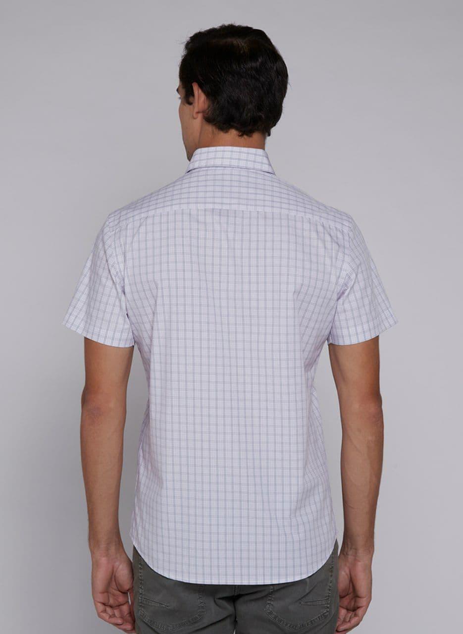 Camisa Manga Curta Comfort Maquinetada Xadrez