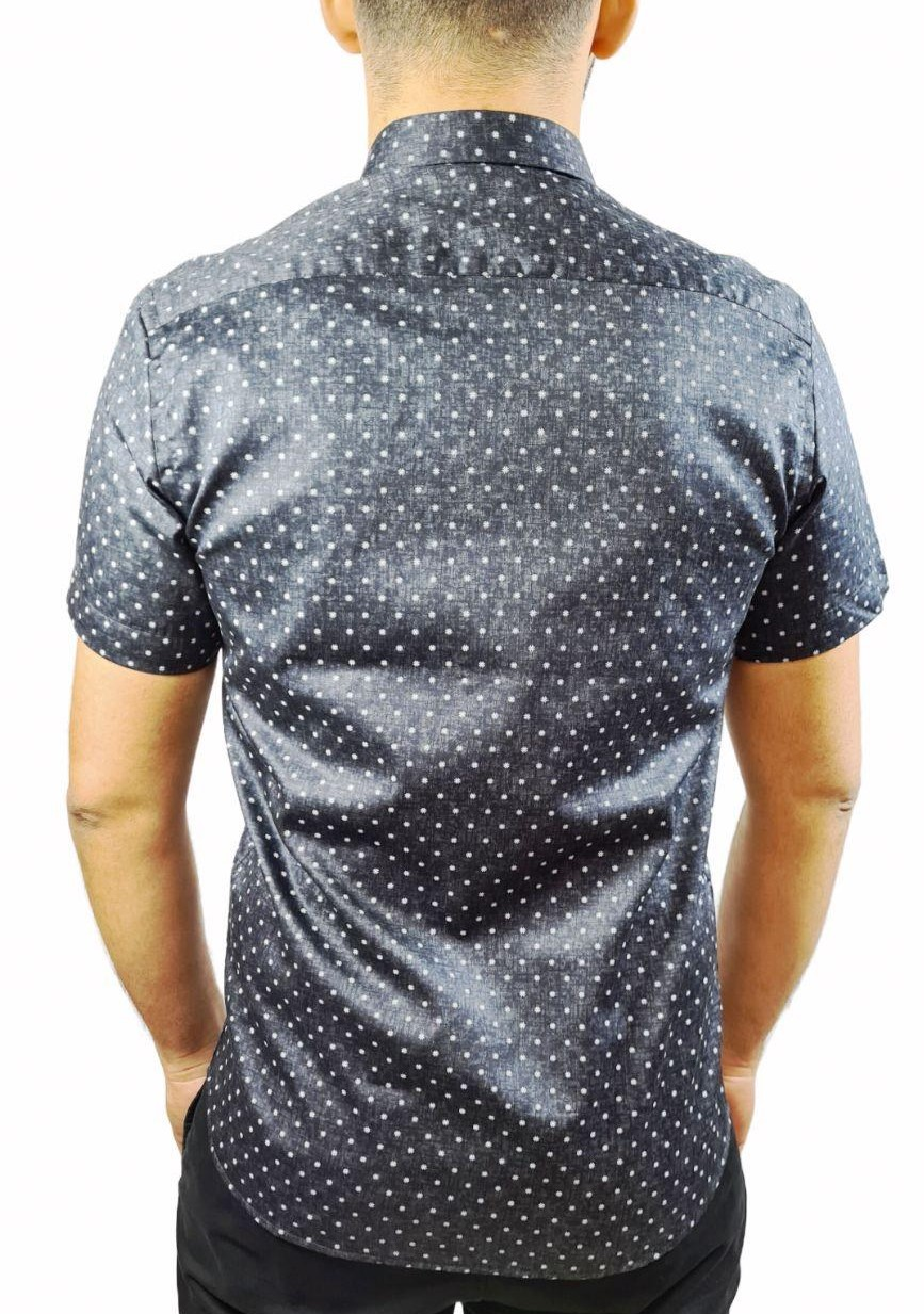 Camisa MC Slim Estampada Individual