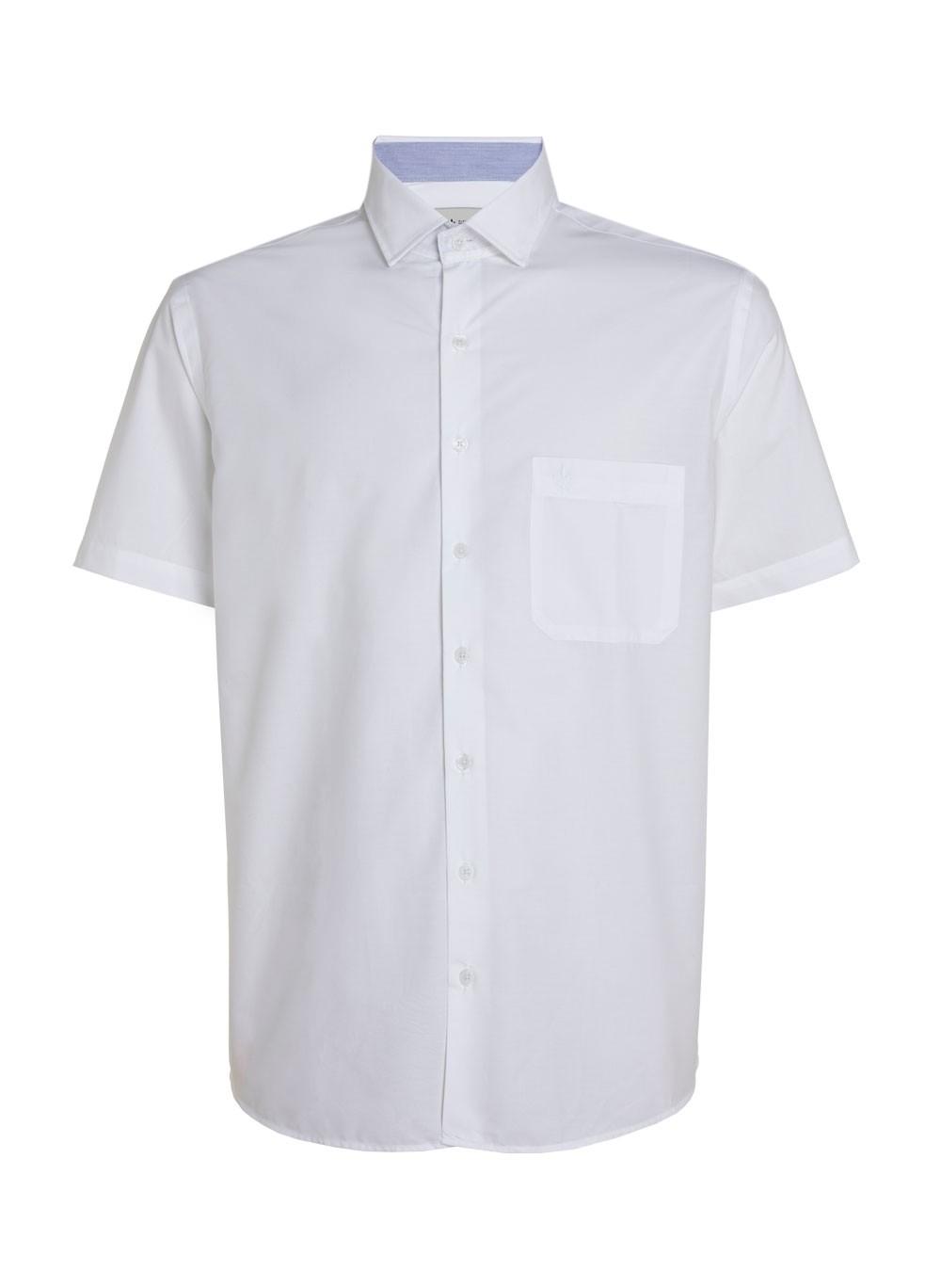 Camisa Mc Tricoline Lisa Com Bolso Dudalina