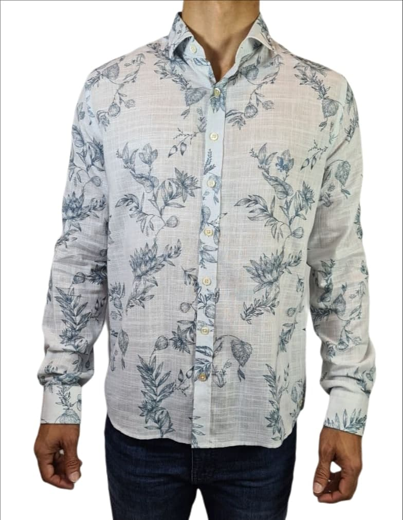 Camisa ML Estampada Dudalina