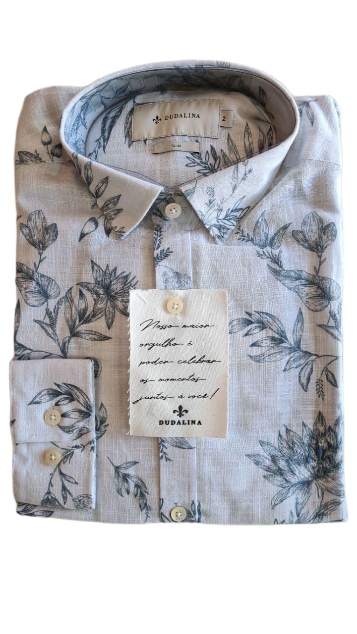 Camisa ML Estampada Dudalina