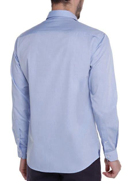 Camisa ML Fio Tinto Liso Dudalina
