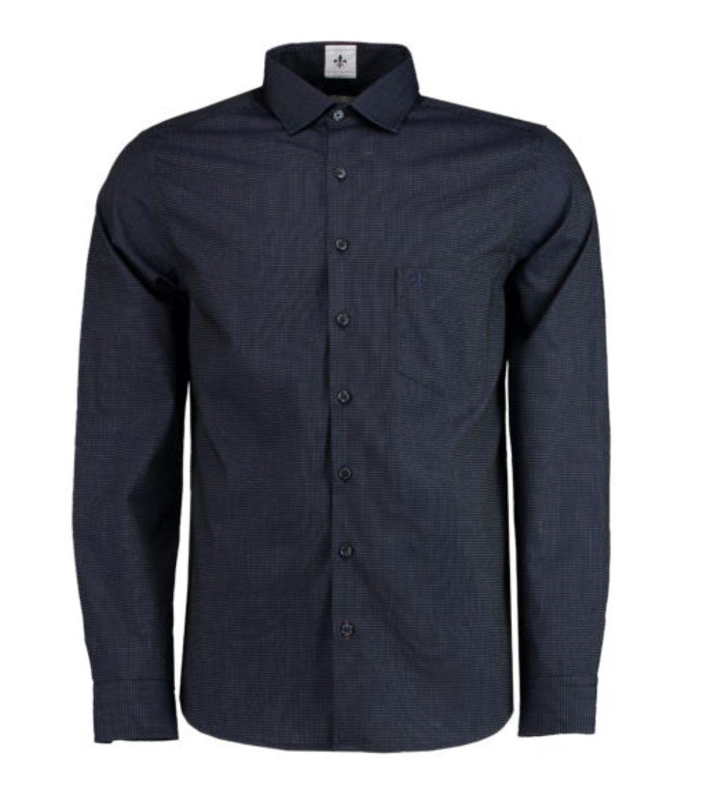 Camisa ML Fio Tinto Maquinetada Dudalina