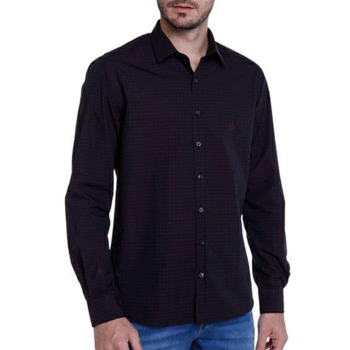 Camisa ML Fio Tinto Xadrez Dudalina