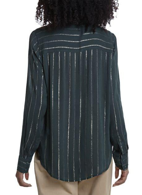 Camisa ML Listrada Brilho Dudalina