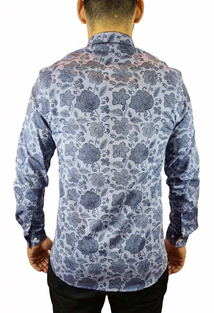 Camisa Ml Slim Estampada Individual
