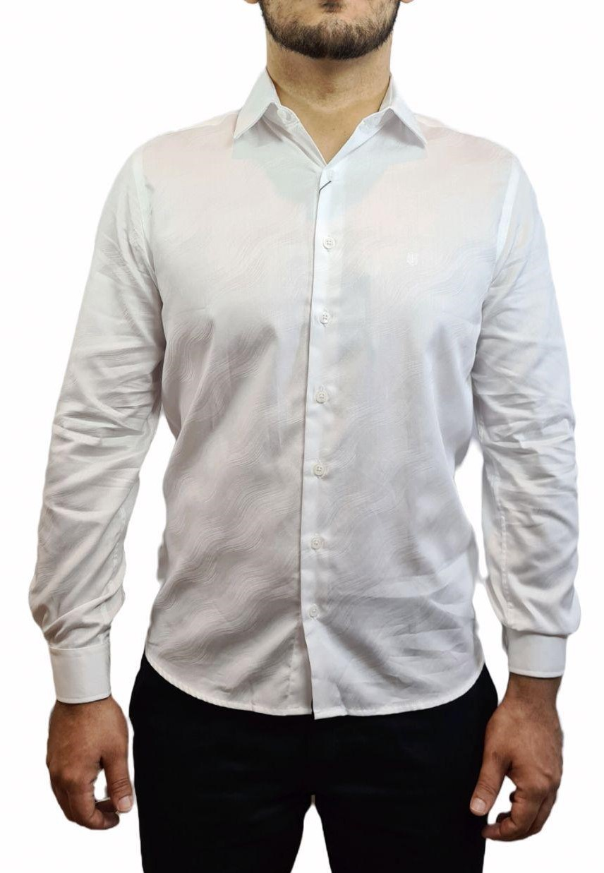 Camisa ML Slim Jacquard Individual